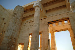 La acrópolis ateniense 1 Foto de archivo libre de regalías