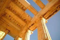 La acrópolis ateniense 2 Foto de archivo libre de regalías