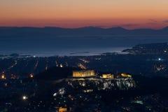 La acrópolis de Atenas Foto de archivo