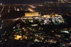 La acrópolis de Atenas Imágenes de archivo libres de regalías