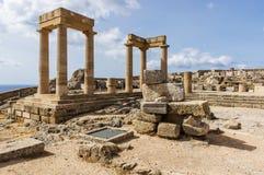 La acrópolis de Lindos Fotografía de archivo libre de regalías