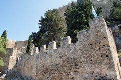 La acrópolis de Lindos Foto de archivo