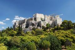 La acrópolis en Atenas Fotografía de archivo libre de regalías