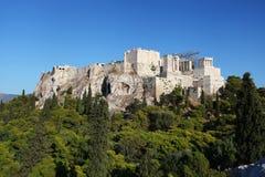La acrópolis en Atenas Imagen de archivo