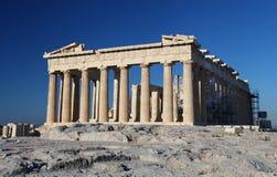 La acrópolis en Atenas Fotos de archivo libres de regalías