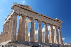 La acrópolis en Atenas Foto de archivo
