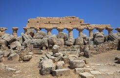 La acrópolis en Selinuntely Foto de archivo libre de regalías