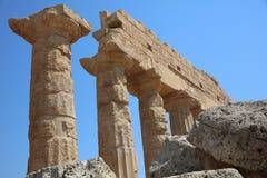 La acrópolis en Selinuntely Fotografía de archivo