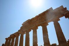 La acrópolis en Selinuntely Foto de archivo
