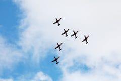 La acrobacia aérea Fotografía de archivo libre de regalías