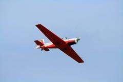 La acrobacia aérea con airplan Fotografía de archivo libre de regalías