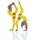 La acrobacia de la muchacha de baile hermosa Imagenes de archivo