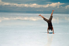 La acrobacia en el hielo Fotografía de archivo libre de regalías