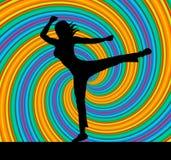 La actitud de la yoga representa a Harmony Balance And Zen Imágenes de archivo libres de regalías