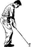 La actitud del oscilación del golf Fotografía de archivo