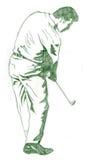La actitud del oscilación del golf Fotos de archivo