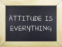La actitud es todo Foto de archivo libre de regalías