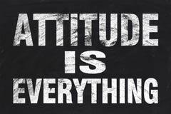 La actitud es todo Imágenes de archivo libres de regalías