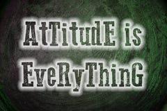 La actitud es todo concepto stock de ilustración