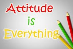 La actitud es todo concepto libre illustration