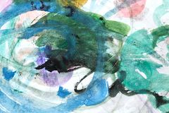 La acuarela abstracta le gusta el fondo fotos de archivo