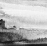 La acuarela abstracta pintó el fondo Papel Textured Foto de archivo libre de regalías