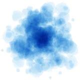 La acuarela azul salpica Foto de archivo libre de regalías