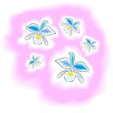 La acuarela de la flor fotografía de archivo libre de regalías