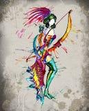 La acuarela de la muchacha del horóscopo de Archer stock de ilustración