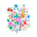La acuarela florece el ejemplo Composición aislada Bueno para Foto de archivo libre de regalías