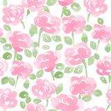 La acuarela linda florece el modelo inconsútil del vector Imagen de archivo libre de regalías