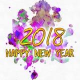 La acuarela mancha hacia 2018/ Foto de archivo libre de regalías