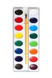 La acuarela pinta la gama de colores Fotos de archivo libres de regalías