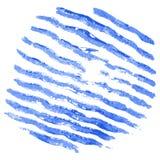 La acuarela raya el modelo Drenaje a mano ilustración del vector