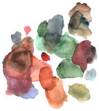 La acuarela salpica de tonos marrones y verdes Libre Illustration