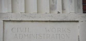 La administración civil de los trabajos imagen de archivo libre de regalías