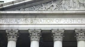 La administración de la justicia verdadera Imagen de archivo