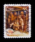 La adoración de los pastores, serie 2007 de la Navidad, circa 2007 Fotografía de archivo libre de regalías