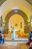 La adoración en la iglesia de la primacía de San Pedro Foto de archivo