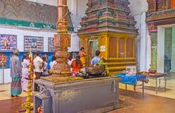 La adoración en Munneswaram Kovil Imagenes de archivo