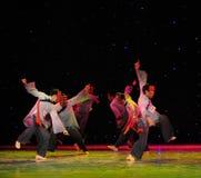 La adoración enseña- a danza del exorcismo de Nuo-The Imagen de archivo