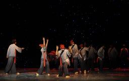 La adoración enseña- a danza del exorcismo de Nuo-The Foto de archivo libre de regalías