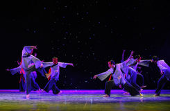 La adoración enseña- a danza del exorcismo de Nuo-The Fotografía de archivo