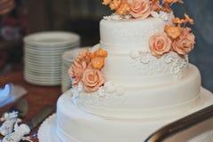 La aduana de la torta del banquete en la boda 4315 Fotos de archivo