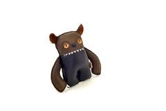 La aduana handcrafted rellenó el juguete de cuero - ogro - se fue Imagen de archivo libre de regalías