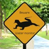 La advertencia animal canta Fotografía de archivo