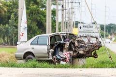 La advertencia del accidente Imagen de archivo libre de regalías