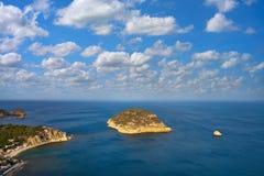 La aerea Falzia del mar Mediterraneo di Javea Xabia Immagini Stock Libere da Diritti