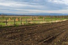 La agricultura aró el campo Foto de archivo