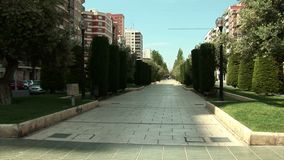 La alameda Cartagena Spain stock video